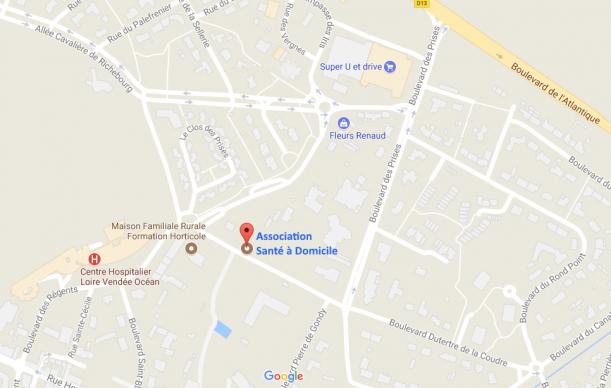 Localisation de l'association Santé à domicile